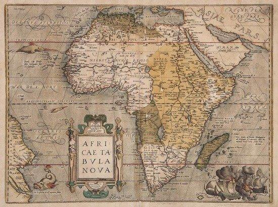 Ortelius (Abraham) Africae Tabula Nova