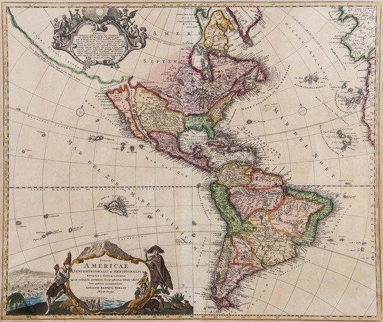 Homann (Johann Baptiste) Totius Americae Septentri