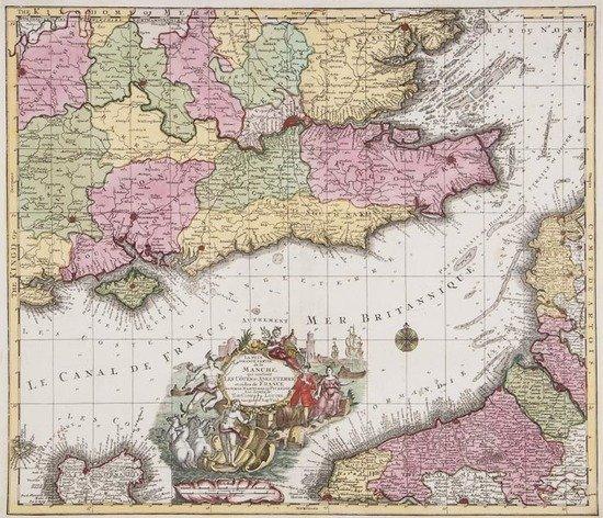 Lotter (Tobias Conrad) Carte de l'Ocean Pacifique