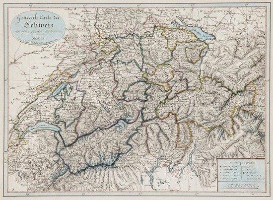Scheurmann (Johann Jacob) Atlas de la Suisse