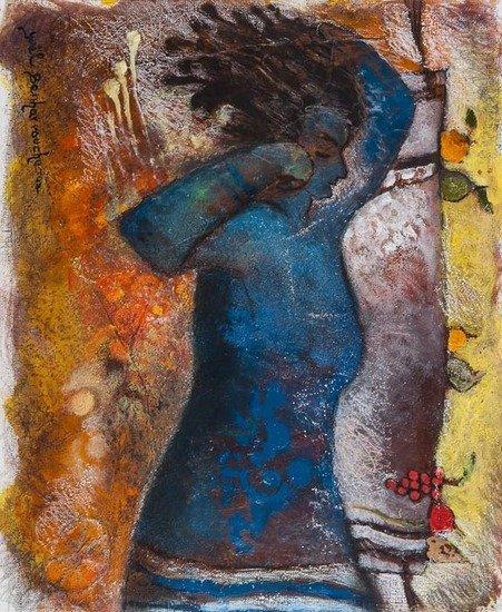 Yoël Benharrouche (b.1961) Sieste Bleue