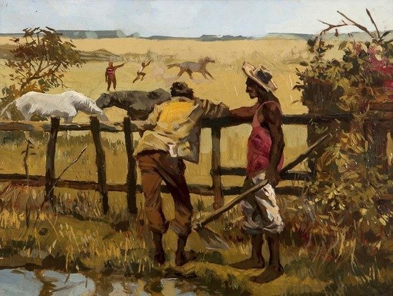Newton Coutinho (20th century) Horses and farm lab