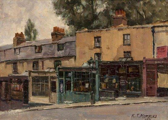 Robert T. Mumford (1895-1939) Street scene