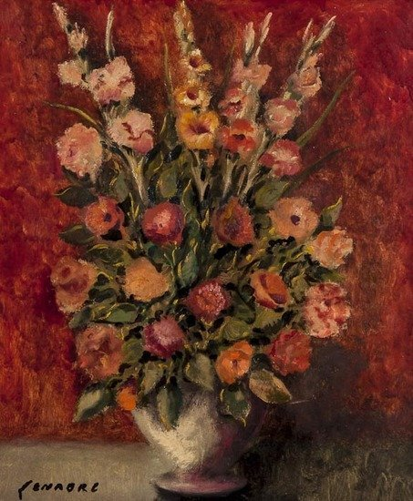 Ramon Senabré (20th century) Bouquet of flowers in