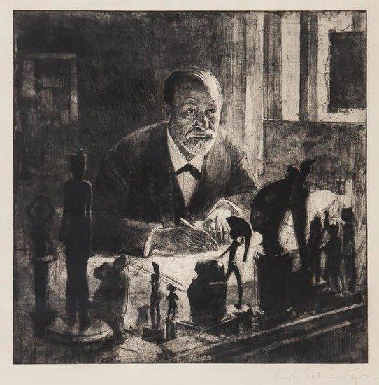 Max Pollak (1886-1970) Porträt Sigmund Freud