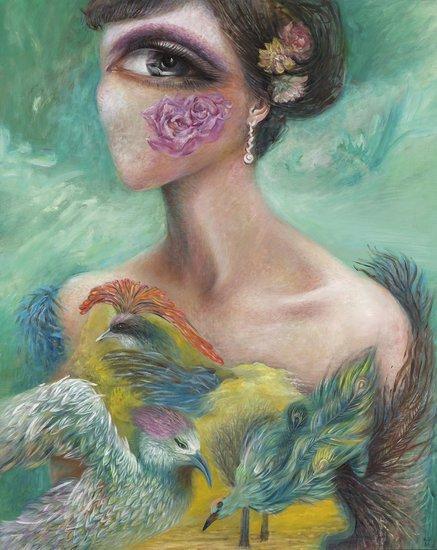 A Jiana Feather Dress, 2012