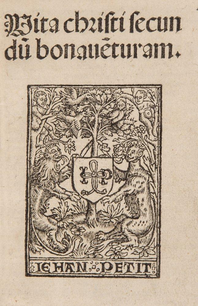 (Saint) Vita Christi, device on title, final blank