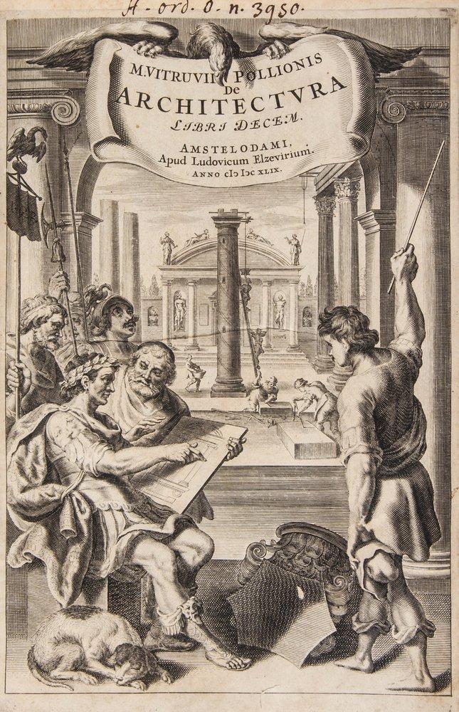 Elzevier.- Vitruvius Pollio (Marcus) De Architectu
