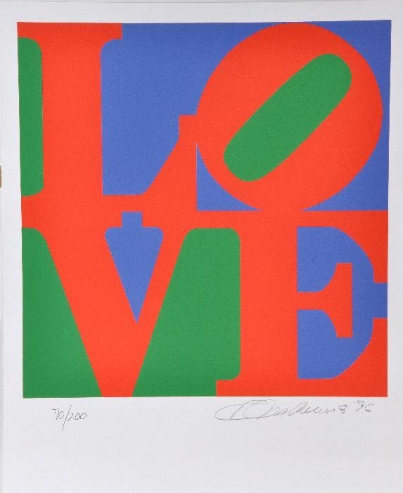 Robert Indiana (b.1928) Love, from The Book of Lov