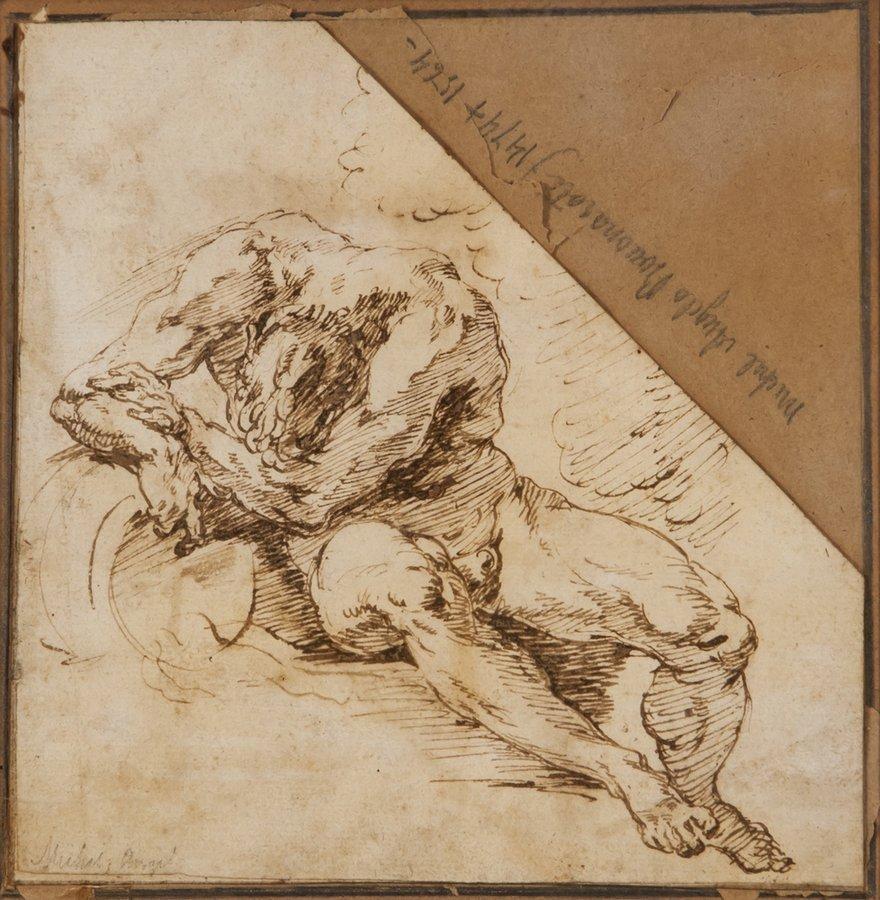 Circle of Francesco Salvator Fontebasso Male nude