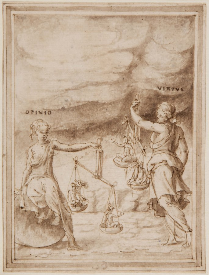 Attributed to Prospero Fontana An allegorical pers