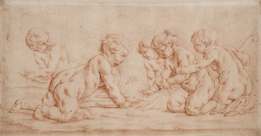 Flemish School (18th Century) A group of five putt
