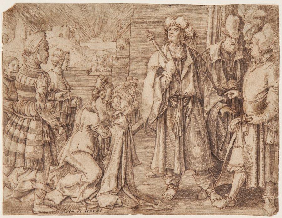 After Lucas van Leyden Potiphar's Wife accusing Jo
