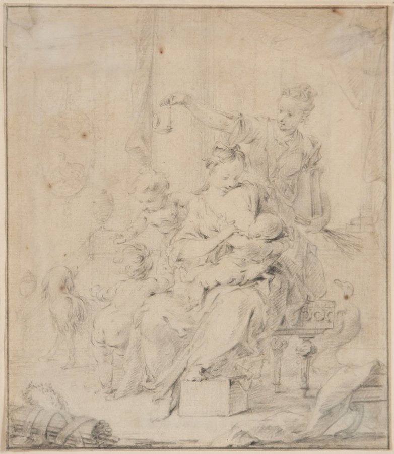 French School (18th Century) The Triumph of Mother