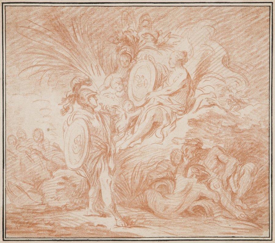 Circle of François Boucher Venus and Aeneas