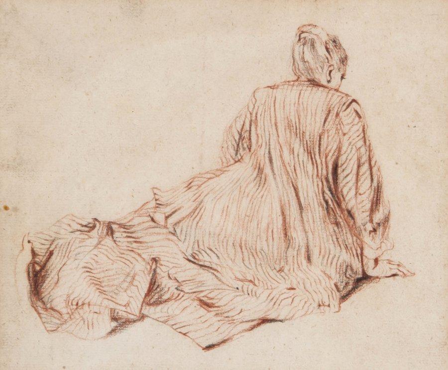 After Jean-Antoine Watteau Figure studies