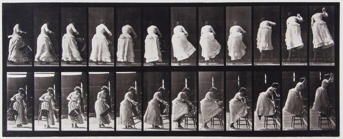 Eadweard Muybridge (1830-1904) - Stepping on Chair