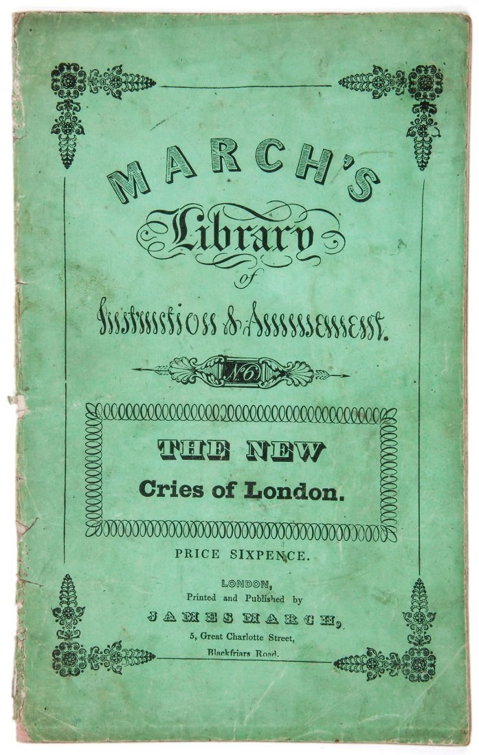 The New Cries of London, March's Library of Instru