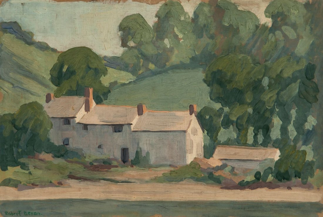Robert Polhill Bevan (1865-1925) Farm Buildings, L