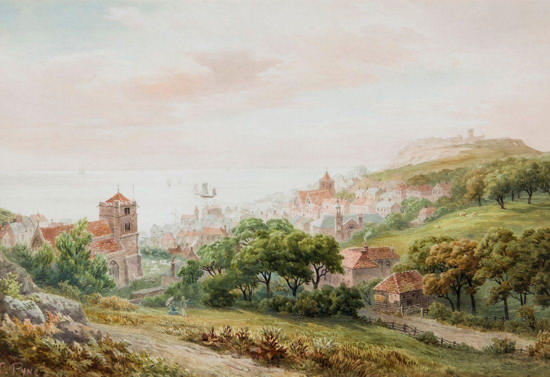 Charles Pyne (fl. 1861-1880) - View of Hastings,