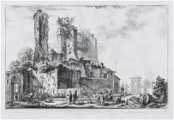 Giovanni Battista Piranesi (1720-1778) - 3 Vedute di