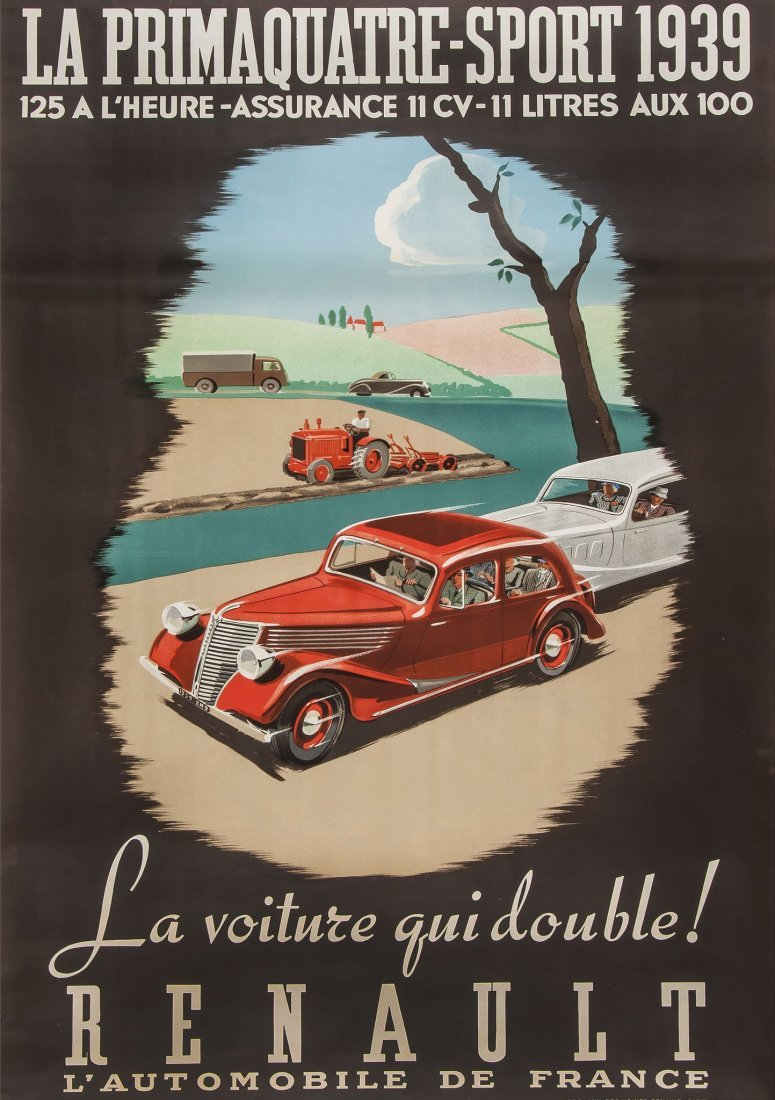 ANONYMOUS - RENAULT, Primaquatre-Sport 1939
