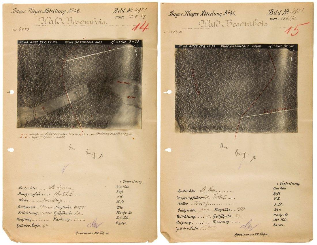 -. WWI. - [German Aerial Reconnaissance photographs],