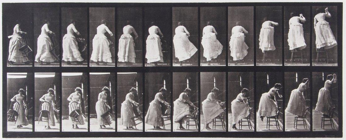 Eadweard Muybridge (1830-1904) - Stepping on Chair and