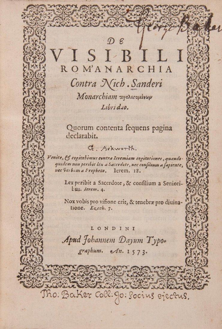De visibili Rom'anarchia contra Nich. Sanderi