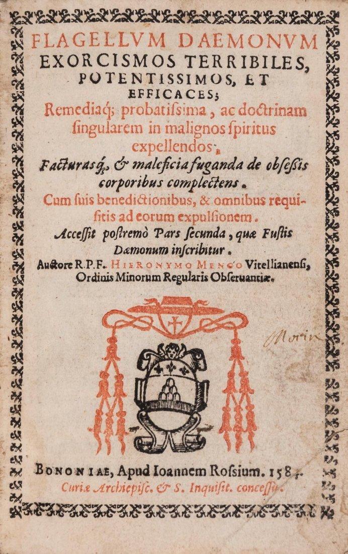 Exorcism.- Menghi (Girolamo) - Flagellum Daemonum