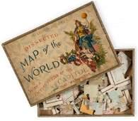 Jigsaw. World - A mixed group of 3 jigsaw maps,