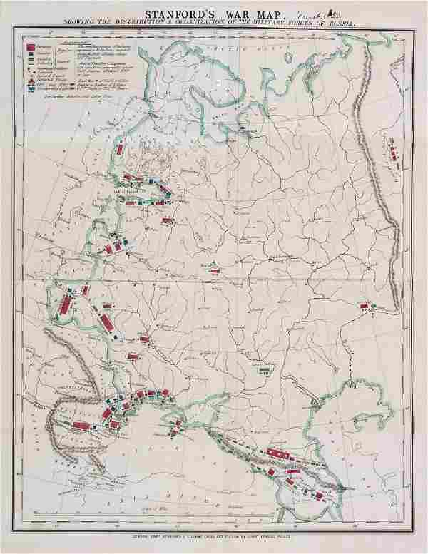 War. - A smal, mixed, group of war maps,