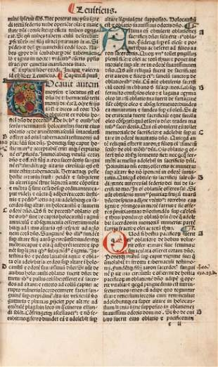 Latin. Biblia Latina , edited by Petrus Angelus de
