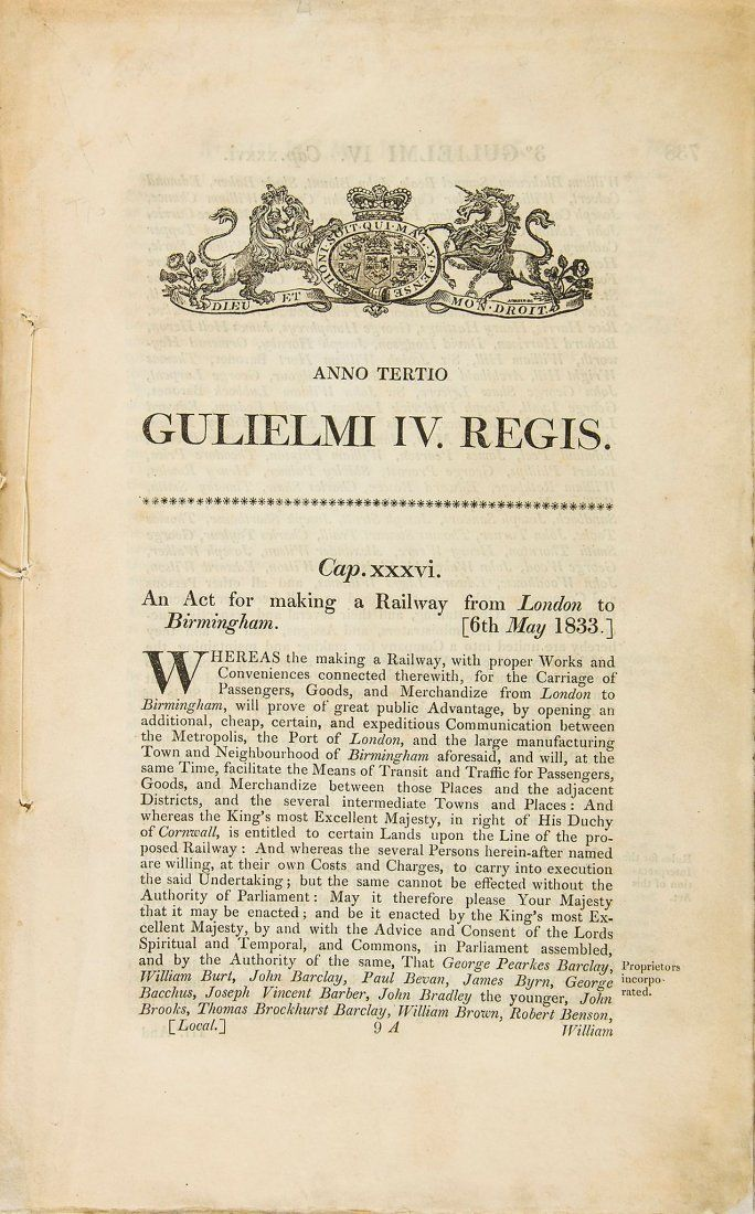Act (An) for making a Railway from London to