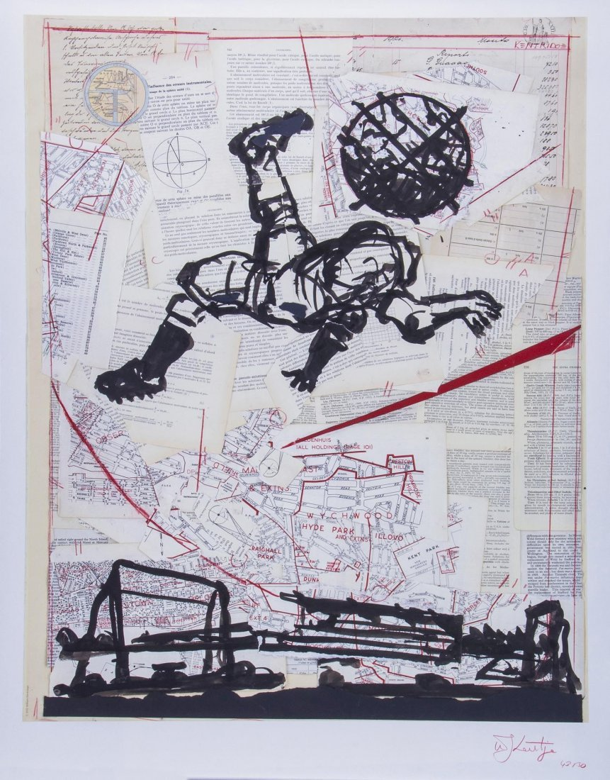 William Kentridge (b.1955) - Bicycle Kick