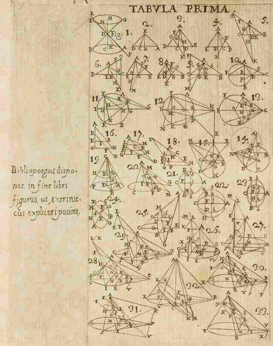 Apollonius Pergaeus . Elementa conica Apollonii Paergei