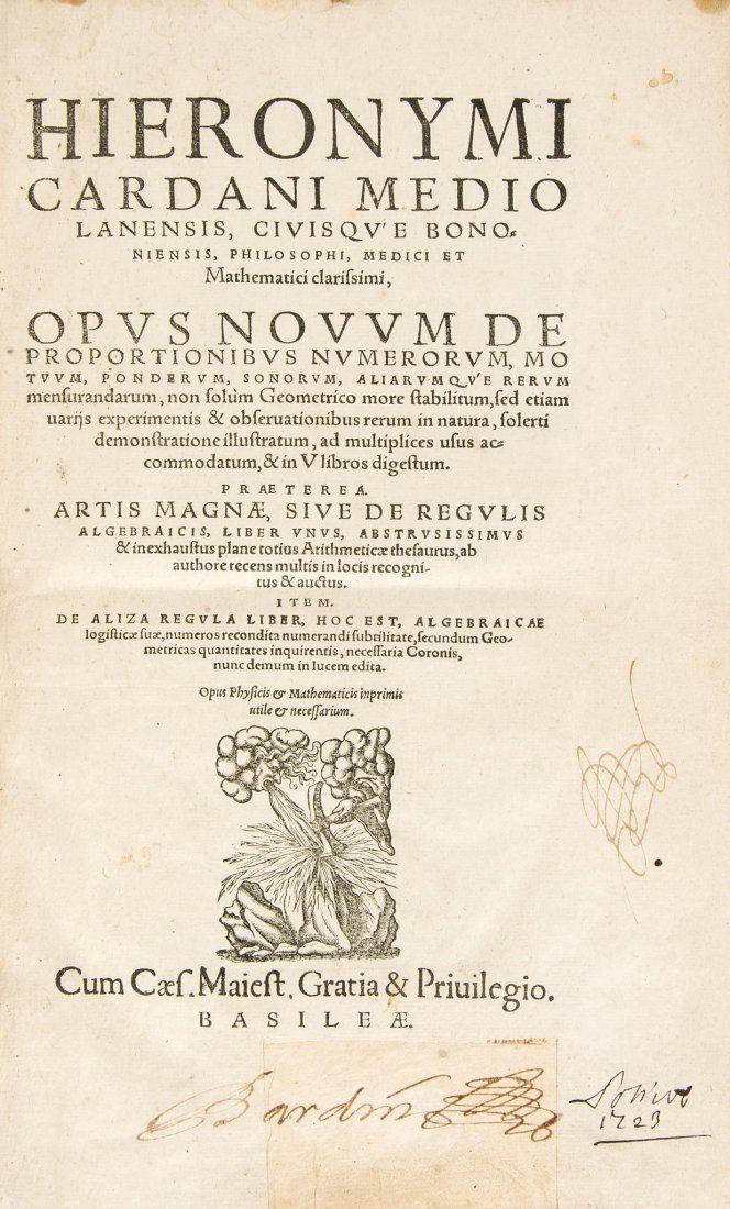 Cardano (Girolamo) - Opus Novum de Proportionibus