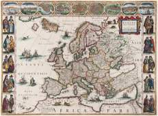 Europe Blaeu Willem  Europa recens descripta