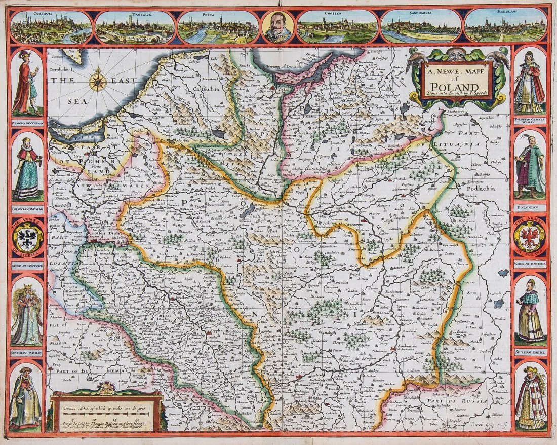 Poland.- Speed (John) - A Newe Mape of Poland Done into