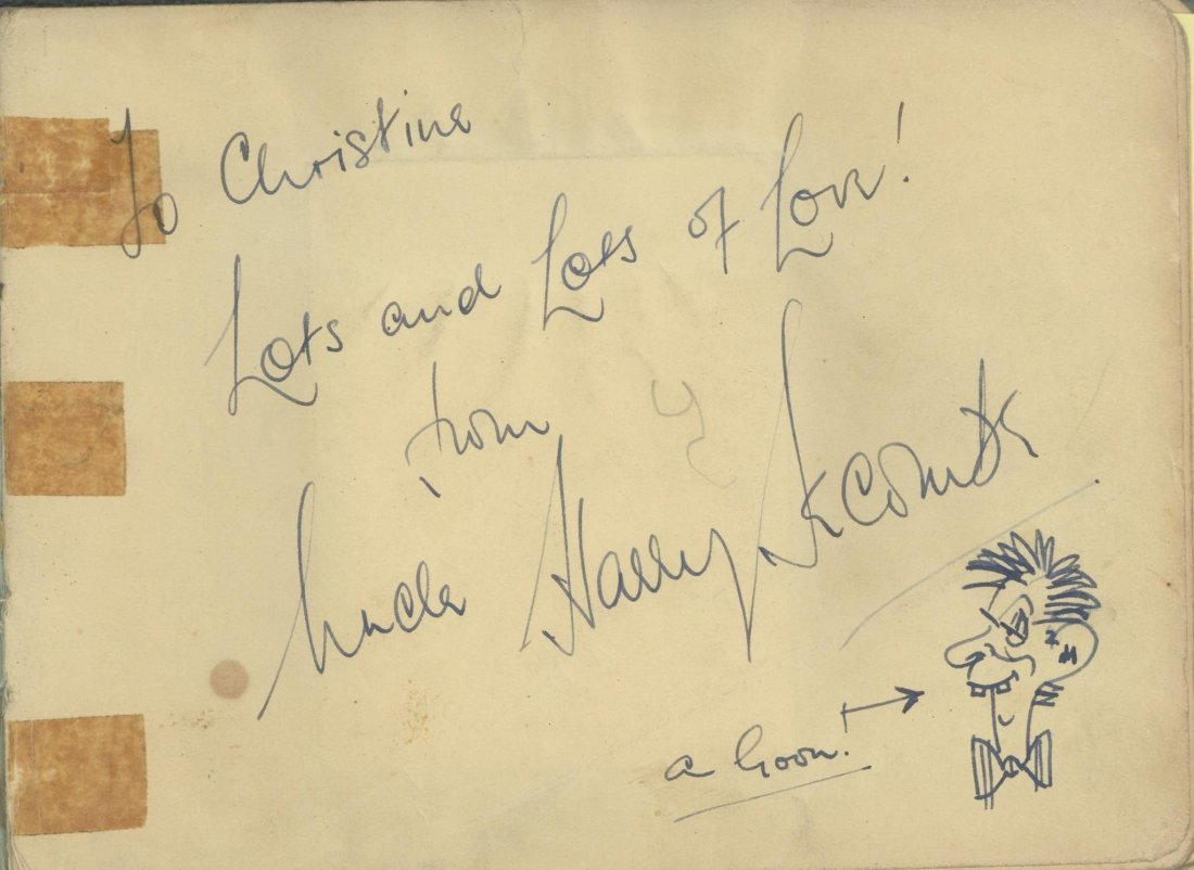 COL An autograph album, collected by a niece of Harry