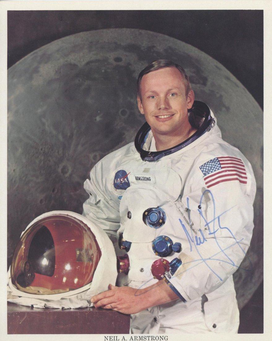 "SP A 10 x 8"" colour photograph of Neil Armstrong"