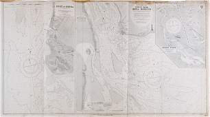 British Admiralty  A group of 57 admiralty charts of
