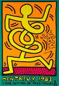 Keith Haring (1958-1990) - Poster for the Montreux Jazz