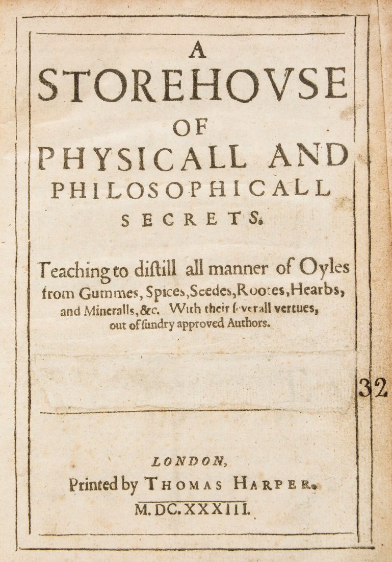 [Banister (John)] - A Storehouse of Physicall and