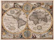 A New and Accurat Map of the World Drawne according to