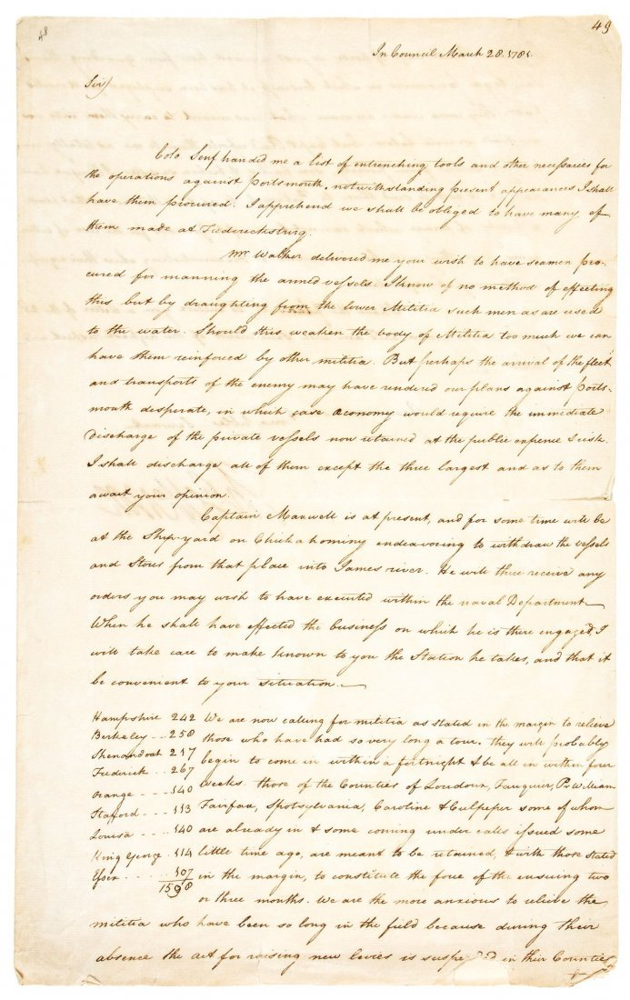 "Letter signed ""Th: Jefferson"" to General Lafayette,"
