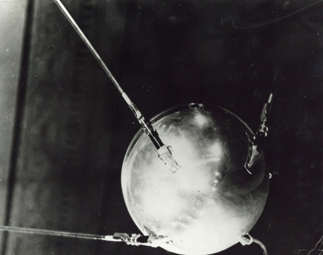 Sputnik, the world's first artificial satellite,