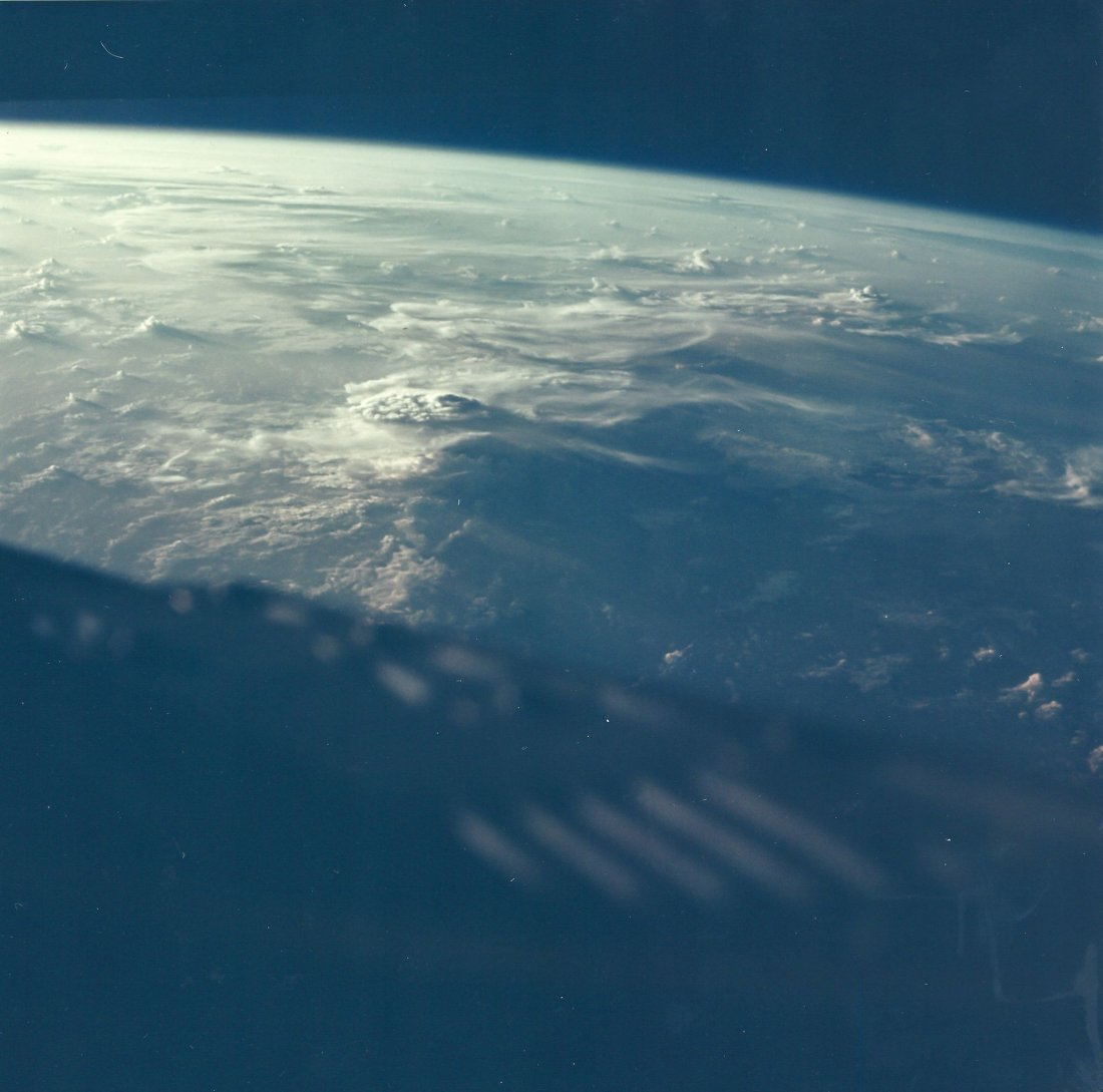 Sunset from Space, Gemini 3, March 1965