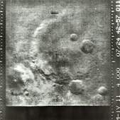 Ten of the twenty-two photographs of Mars taken by the
