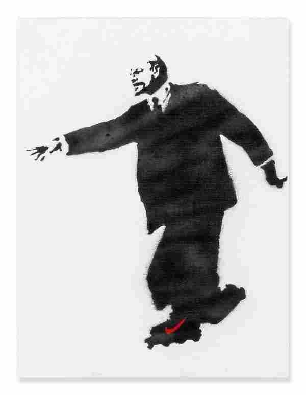 Banksy (b.1974) - Lenin on Rollerblades, 2003